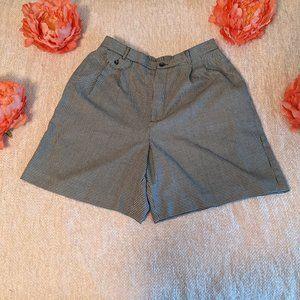 Vintage Villager Houndstooth Shorts Size 12P